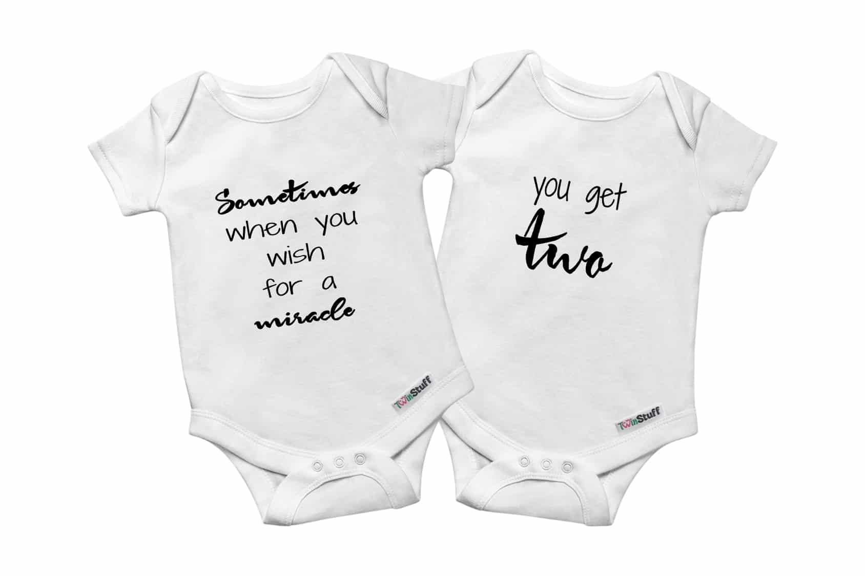 TwinStuff twin onesies set 2