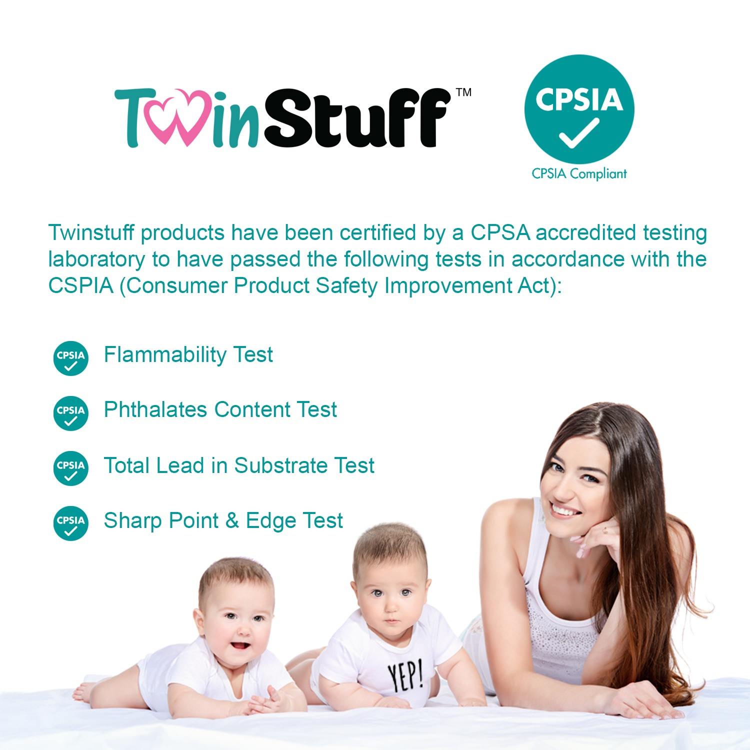 twin onesie safety tests