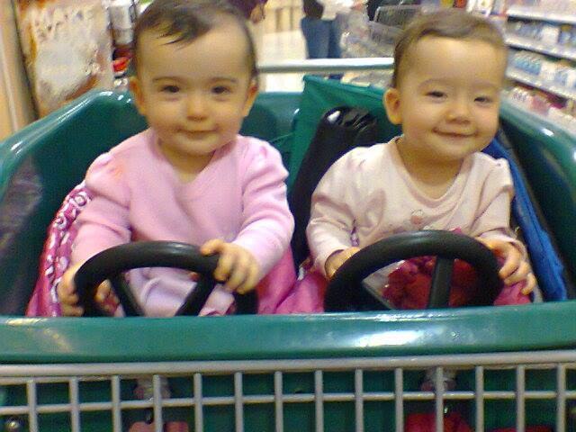 Grocery Shopping with twins